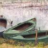 'Barcas Albufera' 2001 · Óleo sobre lienzo · 81x100 · Colección particular
