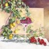 'Frutas y claveles' 2003 · Óleo sobre lienzo · 81x100 · Colección particular