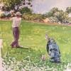 'Jugando al Golf' 1997 · Óleo sobre papel · 65x50 · Colección particular