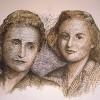 'Madre e hija' 1999 · Plumilla · 50x65 · Colección particular