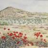 'Paisaje con amapolas' 1989 · Óleo sobre lienzo · 81x100 · Colección particular
