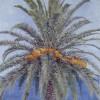 'Palmera y mar' 1994 · Óleo sobre lienzo · 116x89 · Colección particular