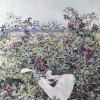 'Zarzal y mar' 1994 · Óleo sobre lienzo · 100x81 · Colección particular